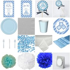 Baby Shower Baby Blue Standard Party-in-a-box