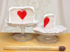 1:12 Scale. Surprise Heart Cake with Slice. Dollhouse Miniature Food by LDMGMiniatures on Etsy https://www.etsy.com/listing/222550636/112-scale-surprise-heart-cake-with-slice