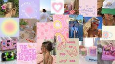 Wall Collage Decor, Laptop Backgrounds, Aesthetic Desktop Wallpaper, Macbook Wallpaper, Danish, Photo Wall, Coconut, Pastel, Collages