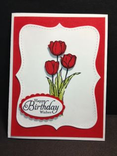 A Blessed Easter Birthday Card Stampin' Up! Rubber Stamping Handmade Cards Birthday Card Easter Stamp set