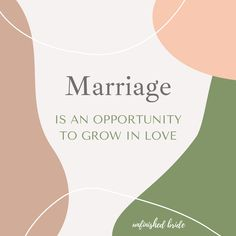 Marriage can be really tough at times however, it can be an enlightening opportunity to grow in love. We don't really know love until that love is challenged in ways that we didn't expect. And even if the relationship doesn't work, you will know what real love should look like going forward.