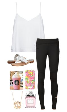 """""""Simple but cute, eh?"""" by hanahpeep ❤ liked on Polyvore featuring Alice + Olivia, adidas, Jack Rogers, Lilly Pulitzer and Christian Dior"""