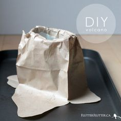 Homeschool: This DIY Volcano is the easiest volcano you'll ever make! Loads of fun flows from the project!