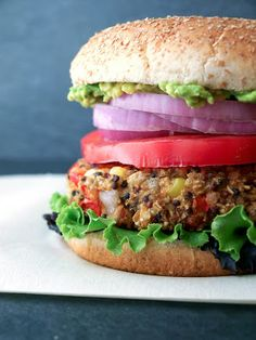 Quinoa and White Bean Veggie Burgers