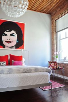 white with pops of color and, jackie o. #comehome