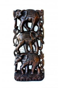 Another Thai elephant carving.