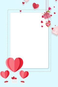 Wallpaper Wa, Cute Pastel Wallpaper, Blue Wallpaper Iphone, Framed Wallpaper, Pattern Wallpaper, Love Background Images, Flower Background Wallpaper, Love Backgrounds, Valentine Day Love