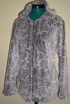 Stan Herman Stanherman Hoodie Jacket Plush Gray Design Zip Front Women Plus XXL #StanHerman #Hoodie