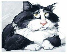 Trendy cats and kittens illustration pets ideas Cartoon Kunst, Cartoon Art, Funny Love Images, Gatos Cats, Cat Drawing, Dog Art, Crazy Cats, Animal Drawings, Pet Portraits