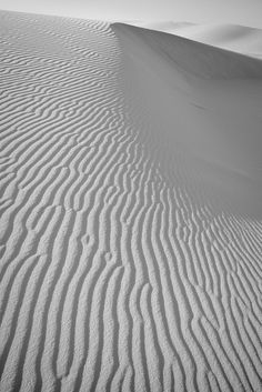 White Sands National Monument. New Mexico. The world's largest gypsum dune field. The brilliant white dunes are ever changing: growing, cresting, then slumping, but always advancing USA. ✭~~hh/
