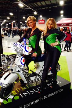 We Are The Mods –  Principal Girls at the Manchester Bike Show 2014 at Event City. To hire our promo models just email hire@grid-girls.co.uk