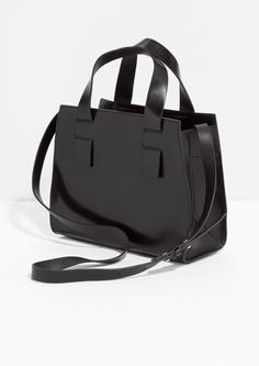 hot sale online 418e9 f9462 Other Stories   Structured Leather Handbag Black Leather Handbags, How To  Wear, Dresses