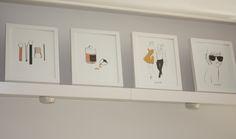 Stunning Garance Dore art prints as featured in the Northlight Pop Up Pop Up, Art Prints, Art Impressions, Popup