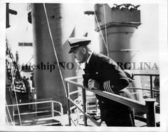 Hustvedt during fitting out - Battleship North Carolina, Uss North Carolina, Sea Captain, Ship Names, War Photography, World War Ii, Battle Ships, Machine Guns, America