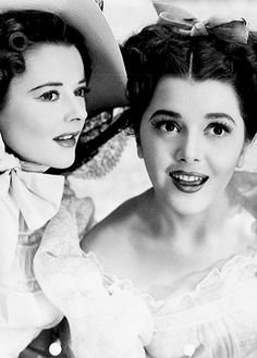 "kellyreichardt: "" Heather Angel and Ann Rutherford in Pride and Prejudice """