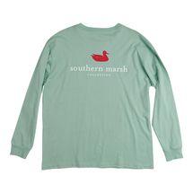 Southern Marsh Authentic L/S T-Shirt - Seafoam