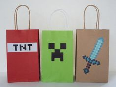 For you Minecraft Lovers!!.... Here are some DIY - Printable awesome 'Favor Bags' to celebrate your Birthday Party. Your Party Guests will love them!! Print as many as you need!! #minecraft #minecraftparty #minecraftgame #minecraftvideogame #minecraftbirthdayparty #minecraftbirthday #minecraftfan #creeper #mine #boyspartytheme #minecraft #minecraftskins #minecraftworld #minecraftforever #minecraftie