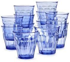 Pin for Later: 50 Pieces of Dinnerware and Decor Guaranteed to Get Your Table in the Spring Spirit Sur La Table Duralex Blue Picardie Tumblers, Set of 6 Blue Tumblers Set of 6 ($22)