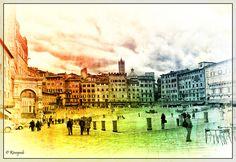 I colori di Piazza del Campo. Foto di Rinogmb su http://www.flickr.com/photos/rinogmb/8673369102