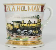 Locomotive Engineer's Occupational Shaving Mug - Cowan's Auctions