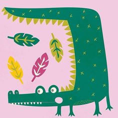 Crocodile character illustration #alicerebeccapotterillustration #illustration #artlicensing #characterdesign #greetingcards #design #makeitindesign #makeartthatsells