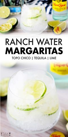 The Ranch Water is a three-ingredient, thirst-quenching, Texas tequila cocktail perfect for hot summer days! Tequila, lime, and Topo Chico are all you need! Easy Drink Recipes, Best Cocktail Recipes, Water Recipes, Alcohol Recipes, Fun Cocktails, Summer Drinks, Fun Drinks, Healthy Drinks, Beverages