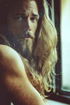 And his luscious locks of golden hair. | This Male Model Is Really, Really Ridiculously Good-Looking