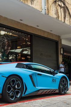 Light Blue Aventador