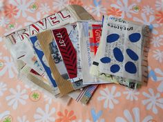 RE:Loved: DIY(ish) Travel Art Journal, mini art journal with ticket stubs, receipts, etc.