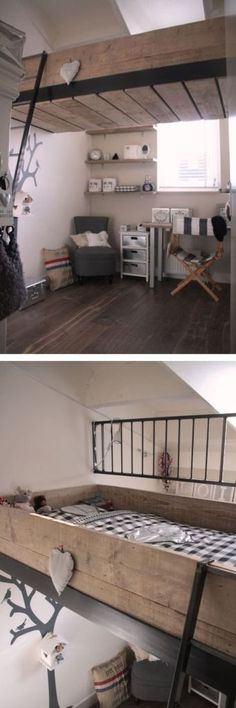 simple-teenage-loft-bed-desk-under