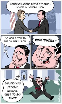 The reason why Ted Cruz is running for President in the 2016 election is finally revealed. Funny Memes, Hilarious, Jokes, Funny Bunnies, Running For President, College Humor, Crazy Things, Funny Things, Random Things