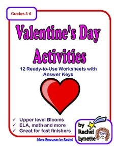 12 pages of fun ELA and Math activities with a creative and critical thinking focus for $3.00