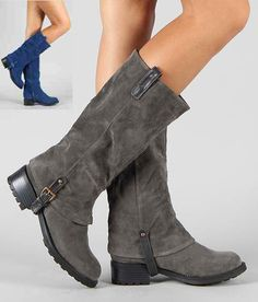 Groove Canyon womens mid-calf low heel combat boot | Fall ...