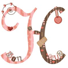 CH.B *✿* Alfabeto de San Valentin....H Always Love You, Joy And Happiness, Letters And Numbers, Valentino, Fonts, Hearts, Lettering, Jewelry, Design