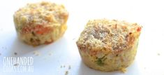 CREAMY TUNA MUFFINS: A tuna mornay muffin, perfect for a lunchbox or the fussy toddler who only wants to feed themselves. Healthy Meals For Kids, Meals For One, Kids Meals, Healthy Snacks, Easy Meals, Baby Food Recipes, Cooking Recipes, Toddler Recipes, One Handed Cooks