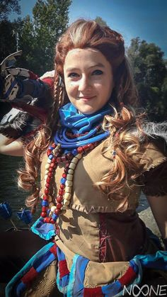 Aloy - Horizon Zero Dawn cosplay by Cosplayer: nOOne ( Horizon Zero Dawn Cosplay, Steampunk Cosplay, Digital Portrait, Video Game Art, Best Cosplay, Female Characters, Costume Design, Cosplay Costumes, Costume Ideas