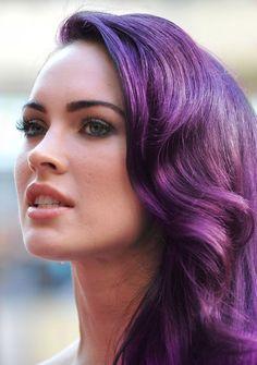 Megan Fox purple pastel hair