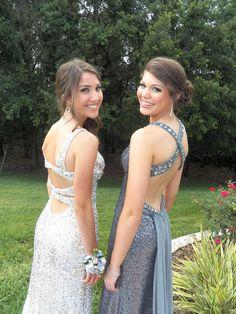 Lindsey & Elizabeth at Prom 2013. Lindsey is wearing a Sherri Hill dress, and Elizabeth is wearing a Tony Bowls Prom Dress