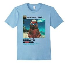 Epic bear glasses in Miami beach T shirt