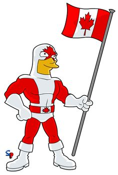 Springfield Punx: True North Strong and Free! Super Hero Captain Canuck