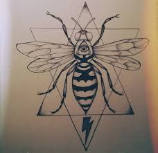Image result for bee tattoo geometric