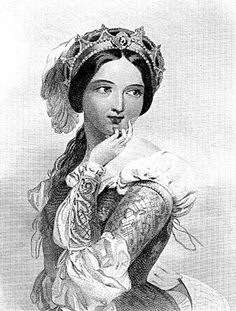 Vintage Clip Art – Beautiful Shakespeare Lady – Princess of France