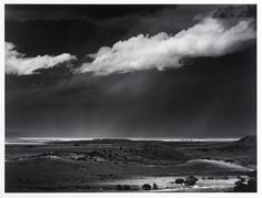 Thunderstorm near Cimarron, NM, 1961 by Ansel Adams. This is another of my all time favorites, not only is it of New Mexico, but despite being in black and white it conveys a good sense of the lighting near thunderstorms which I love. Ansel Adams Photography, Old Photography, Stunning Photography, Abstract Photography, Famous Photographers, Landscape Photographers, Ansel Adams Photos, Black And White Landscape, Great Plains