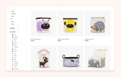 Concept of Children's brand eCommerce website on Behance