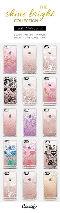 diamonds, jewels, and gems pattern cell phone cases