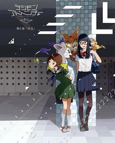 Meiko Mochizuki Hikari Yagami Meicoomon Tailmon Digimon Adventure Tri Glasses high school girl