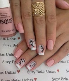 trending Early Spring Nails Art Designs and Colors 2019 - Hairstyles Simple . - Nägel trending Early Spring Nails Art Designs and Colors 2019 - Hairstyles Simple . - Nägel - The Best Nail Art Designs Compilation. Best christmas nail tutorials page 32 Fancy Nails, Pink Nails, Cute Nails, My Nails, Spring Nail Art, Nail Designs Spring, Nail Art Designs, Nails Design, Pretty Nail Art
