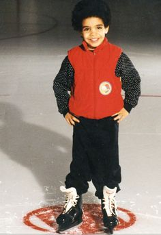 awww look at his little ice skates