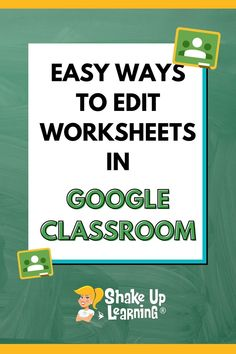 Yes, I know you REALLY want to know how to put your worksheet into Google Classroom! But, let's take a step back and take a deeper look at the purpose of your assignment, the power of G Suite, and how you can go BEYOND substitution and a static worksheet. Teaching Tools, Teacher Resources, Teaching Ideas, Teacher Desks, Classroom Teacher, Kindergarten Classroom, Classroom Decor, People Reading, Classroom Management