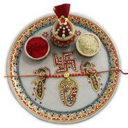 Traditional Rakhi Thali to Delhi
